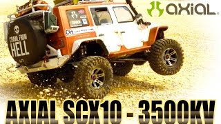 getlinkyoutube.com-RC CRAWLER - AXIAL SCX10 - BRUTAL JEEP - 3500KV Brushless motor test