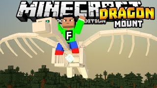 getlinkyoutube.com-RIDEABLE DRAGONS in MCPE!!! - Dragon Mount Mod - Minecraft PE (Pocket Edition)