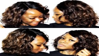 getlinkyoutube.com-Honey Meadow Deep L Part Lace Front Wig Review