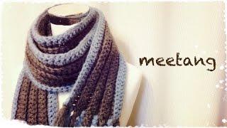 getlinkyoutube.com-かぎ針で編むマフラーの編み方