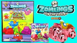 getlinkyoutube.com-ZOMLINGS SERIES 4 BLIND BAGS TOYS Rare Metal Zom-Mobile Starter Pack Kids Video