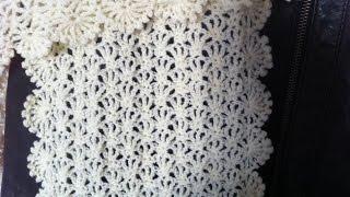getlinkyoutube.com-Tutoriel crochet   une écharpe ou étole façon dentelle pour l'été