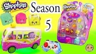 getlinkyoutube.com-Season 5 Shopkins 12 Pack with Glow In The Dark Surprise Blind Bag + Charms - Video Cookieswirlc