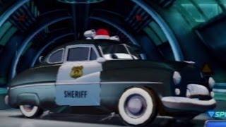 getlinkyoutube.com-CARS ALIVE ! Cars 2 gameplay - Sheriff in Radiator Springs