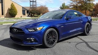 getlinkyoutube.com-2015 Ford Mustang GT Fastback 50th Anniversary Edition Start Up, Full Tour and Review