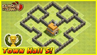 getlinkyoutube.com-Clash of Clans - DEFENSE STRATEGY - Townhall Level 5 Trophy Base Layout  (TH5 Defensive Strategies)