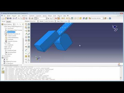 "Modeling Contact using Contact Pairs method (2 of 2) (Demo for book ""Python Scripts for Abaqus)"