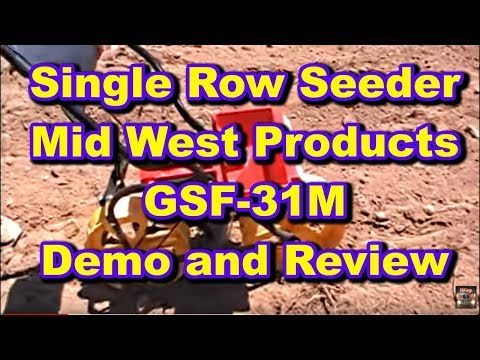 Planting The Food Plot With A Single Row Hand Seeder By Mid