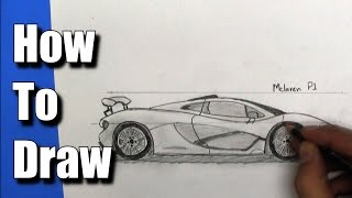 getlinkyoutube.com-How To Draw a McLaren P1 Sports Car - Step By Step