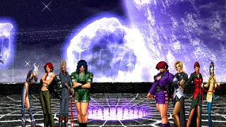 getlinkyoutube.com-Leona,Whip,Vanessa & Angel VS. Orochi Shermie,Mature,Vice & Shion