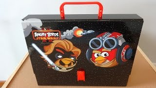 getlinkyoutube.com-Angry Birds Star Wars II Big School Bag Set Unboxing Toys てる鳥のスターウォーズ