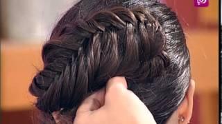 getlinkyoutube.com-مصفف الشعر بهاء ياسين يوضح أشكال جدائل الشعر - رؤيا