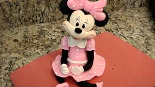 getlinkyoutube.com-Minnie Mouse Cake Topper