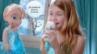 getlinkyoutube.com-Frozen Elsa Canta Conmigo  - Juguetes Madrid