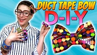 getlinkyoutube.com-How To: Duct Tape Bow | Crafts for Kids with Crafty Carol