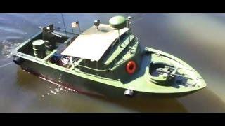 getlinkyoutube.com-PBR Patrol Boat 26cc 2 Stroke Petrol RC Boat