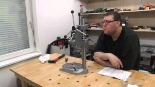 getlinkyoutube.com-Wolfcraft Bohrständer 5027000 Zusammenbau (Drill Stand)