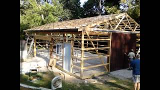 getlinkyoutube.com-DIY Steel Shed 30 x 50
