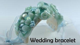 getlinkyoutube.com-Bracelet perfect for the wedding :) - polymer clay TUTORIAL