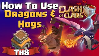 getlinkyoutube.com-Clash of Clans | How To Use Dragons and Hogs at TH8 - CoC Attack Strategy for Town Hall 8