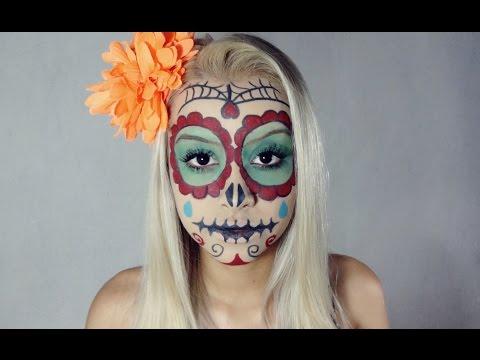 Caveira Mexicana | Mexican Skull - Halloween Makeup Tutorial