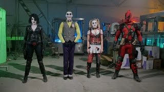 JOKER HARLEY QUINN DEADPOOL DOMINO - DANCE OFF