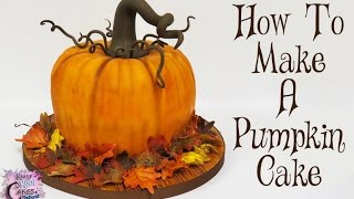 getlinkyoutube.com-How To Make A Pumpkin Cake: The Krazy Kool Cakes Way!