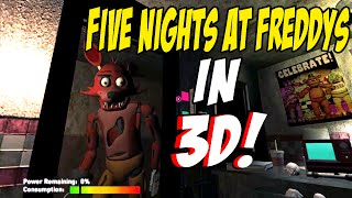 getlinkyoutube.com-FOXY JUMPSCARE IN 3D!! | One Night At Freddys 3D | Night 1 Complete