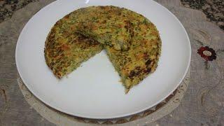 طرطية صحية بالخضر بدون قلي  tortilla vegetable recipe