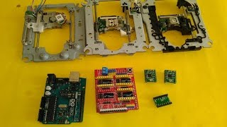 getlinkyoutube.com-Basic setup ArduinoUNO + CNC SHIELD + GRBL + 3 X DVD Drive steppers