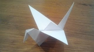 getlinkyoutube.com-How To Make an Origami Flapping Bird