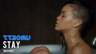 """getlinkyoutube.com-Rihanna vs Lady Gaga vs Beyonce vs P!nk vs Demi Lovato vs Ellie Goulding - Stay """"Megamix"""""""