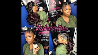 How to tutorial; 2 Feed-in Braids w/Curl Ponytail