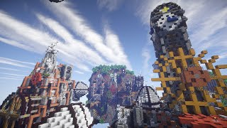 getlinkyoutube.com-Minecraft Steampunk Floating City Timelapse Build