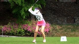 getlinkyoutube.com-[1080P HD]  AHN Shin-Ae Iron with Practice Golf Swing 2013 (2)_KLPGA Tour