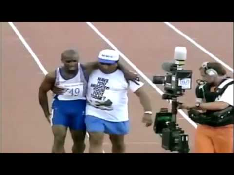 Derek Redmond, Dad Help Son to finish the race (God does the same)