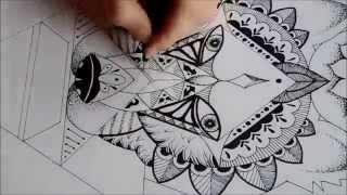 getlinkyoutube.com-Speed Drawing - Geometric Wolf