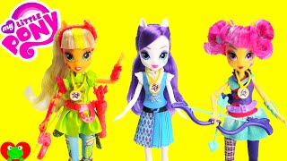 getlinkyoutube.com-My Little Pony Friendship Games Dolls Rarity, Applejack, and Sour Sweet