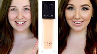 getlinkyoutube.com-Maybelline Fit Me! Foundation | FIRST IMPRESSION & REVIEW