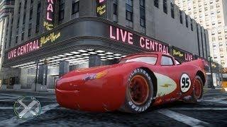getlinkyoutube.com-GTA IV -  Lightning McQueen - Test Drive.