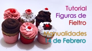 getlinkyoutube.com-Tutorial Cupcakes de Fieltro - Manualidades 14 de Febrero