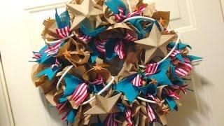 getlinkyoutube.com-Paper Bag Wreath {Geo Deco Mesh Style}