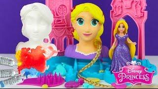 getlinkyoutube.com-Painting Disney Princess Rapunzel Figurine Doll with Watercolor