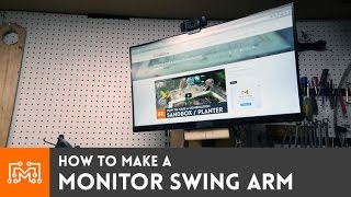 getlinkyoutube.com-Monitor Swing Arm (for my shop computer) // How-To