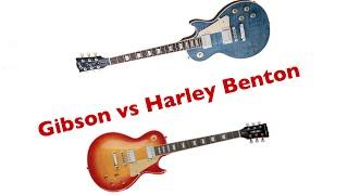 Gibson Les Paul Traditional 2014 vs. Harley Benton SC 450 Plus Comparison Battle German