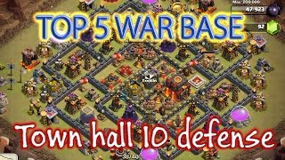 getlinkyoutube.com-BEST Town Hall 10 Base Design for Clash of Clans - Top 5 th10 war base
