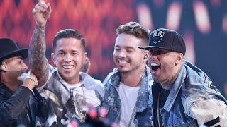 """getlinkyoutube.com-Nicky Jam feat  de la Ghetto J Balvin Arcangel y Zion """" El Perdón"""" y """" Travesuras"""""""