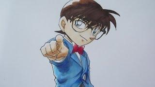 getlinkyoutube.com-[Tutorial] How to draw Conan Edogawa 江戸川 コナン