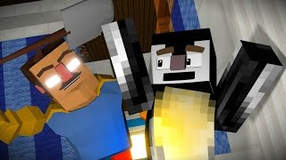 getlinkyoutube.com-Hello Neighbor: Why is He Angry Animated! (Minecraft Animation)