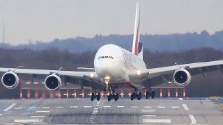 "getlinkyoutube.com-Airbus A380 CROSSWIND Difficulties - Storm ""Axel"""